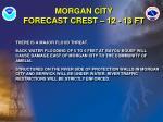 morgan city forecast crest 12 13 ft