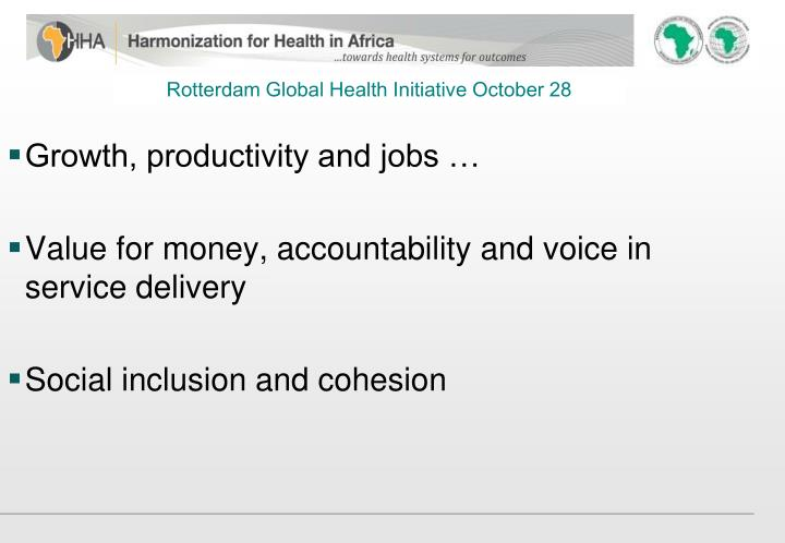 Rotterdam Global Health Initiative October 28