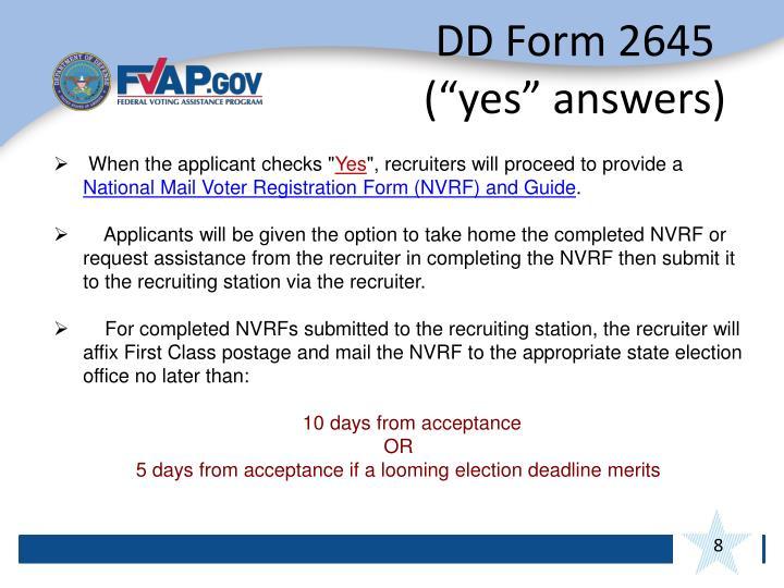 DD Form 2645