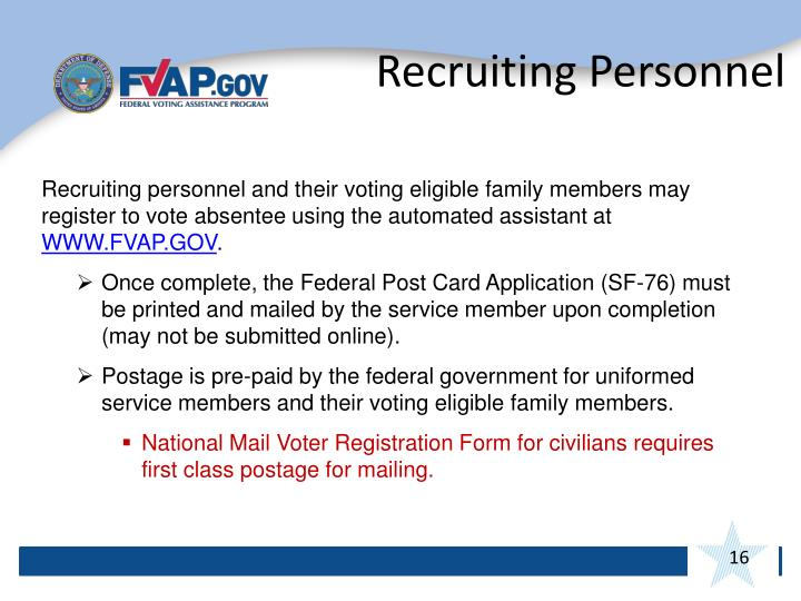 Recruiting Personnel