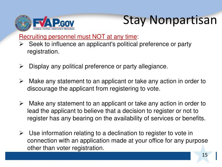 Stay Nonpartisan