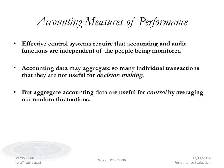 Accounting Measures of Performance