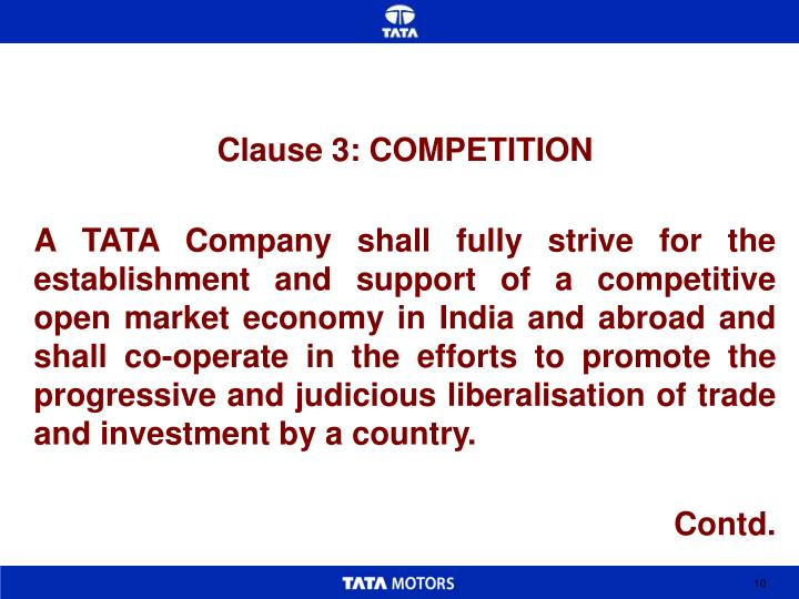 Clause 3: COMPETITION