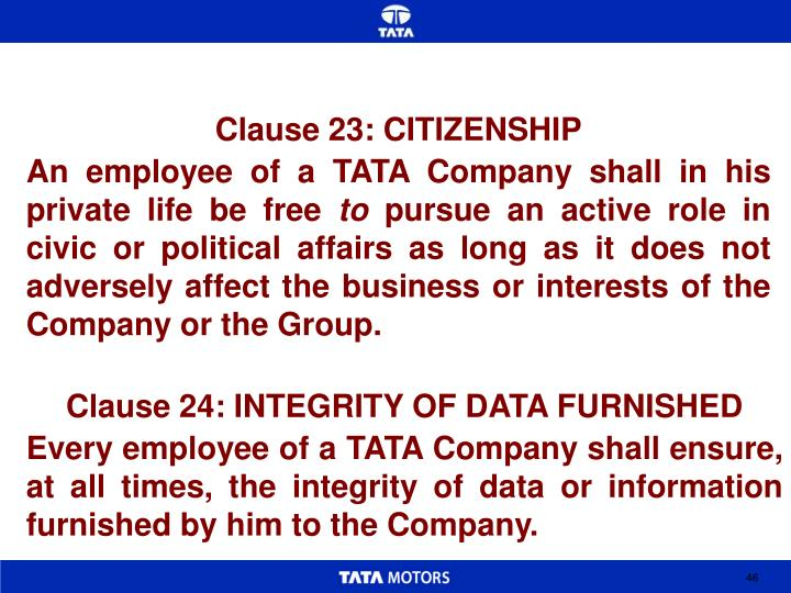 Clause 23: CITIZENSHIP