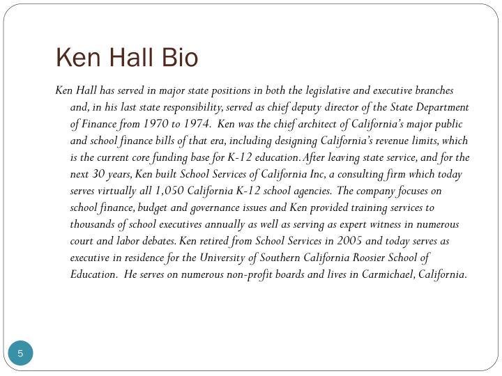 Ken Hall Bio