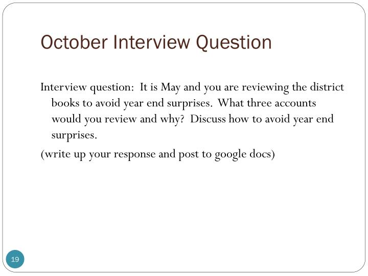 October Interview Question