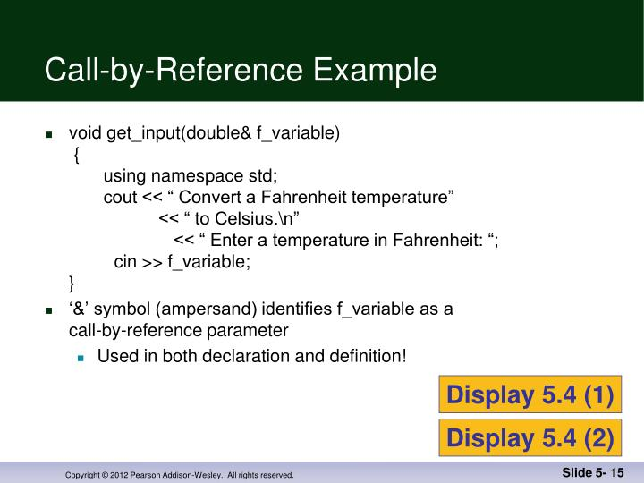 Call-by-Reference Example