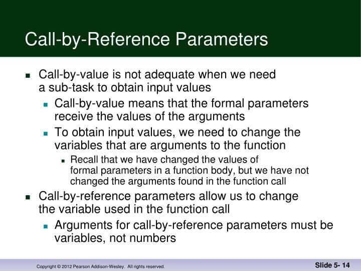 Call-by-Reference Parameters