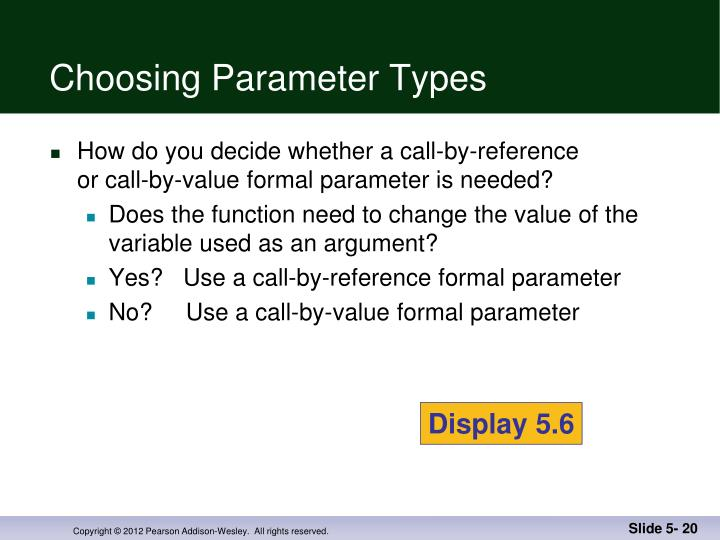 Choosing Parameter Types