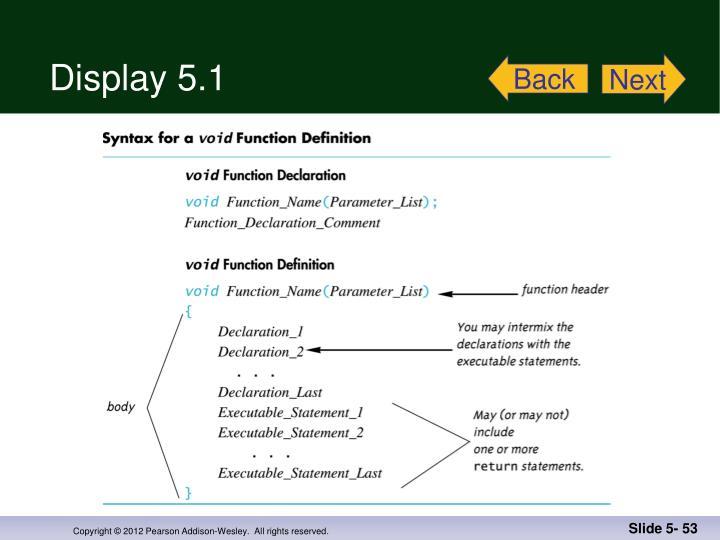 Display 5.1