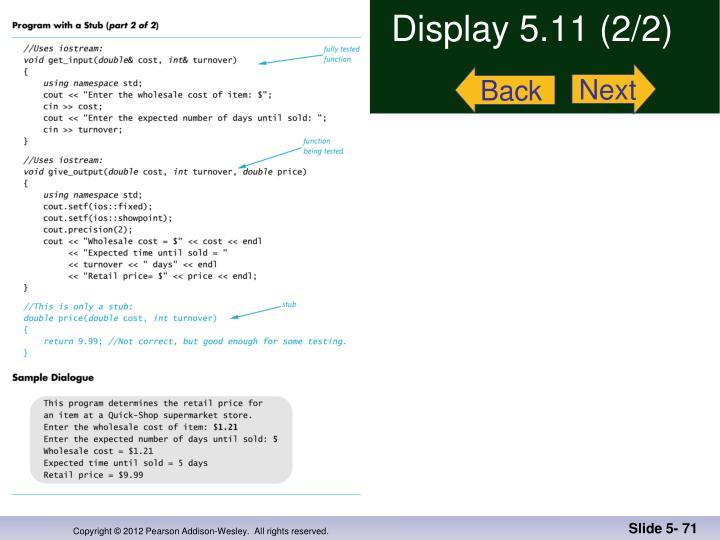 Display 5.11 (2/2)