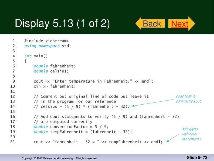 Display 5.13 (1 of 2)