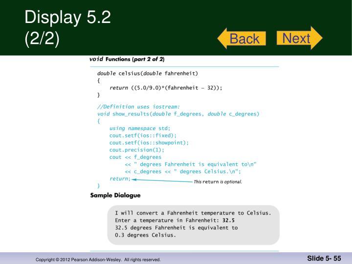 Display 5.2