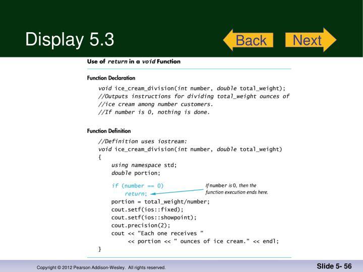 Display 5.3