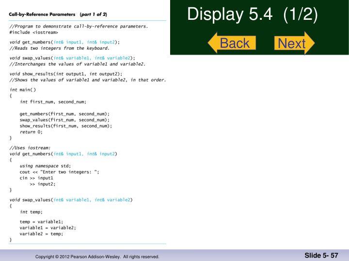 Display 5.4  (1/2)