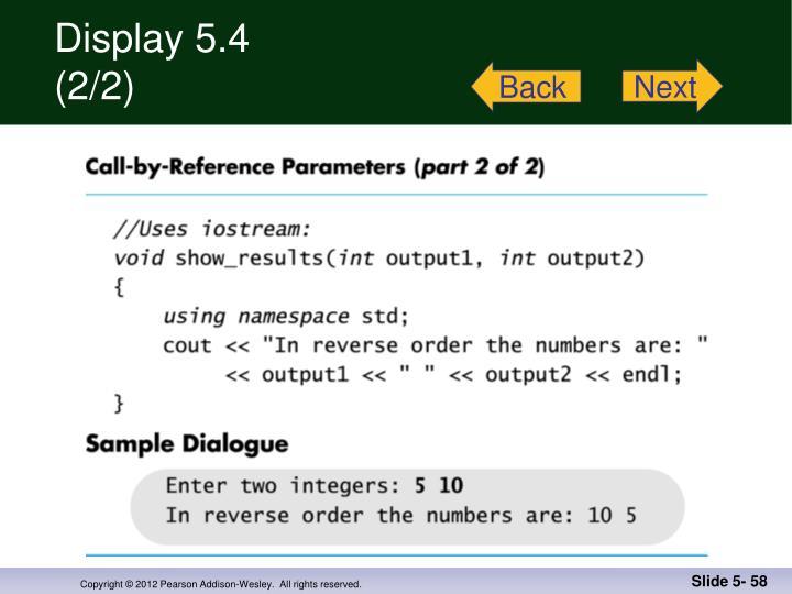 Display 5.4