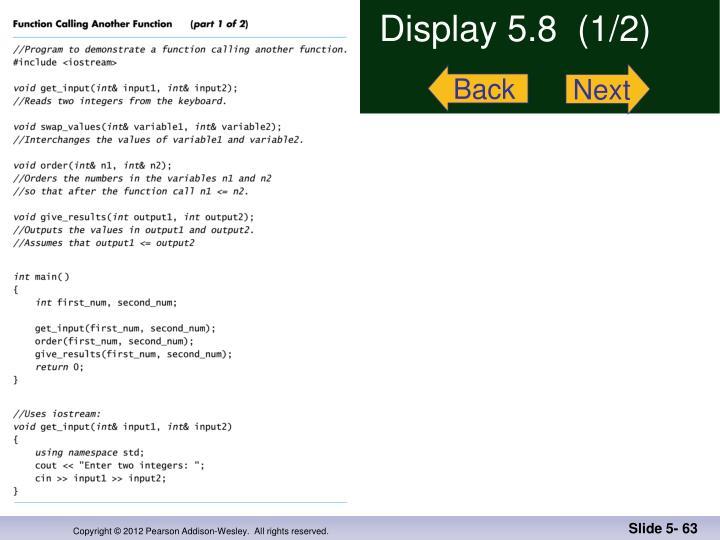 Display 5.8  (1/2)