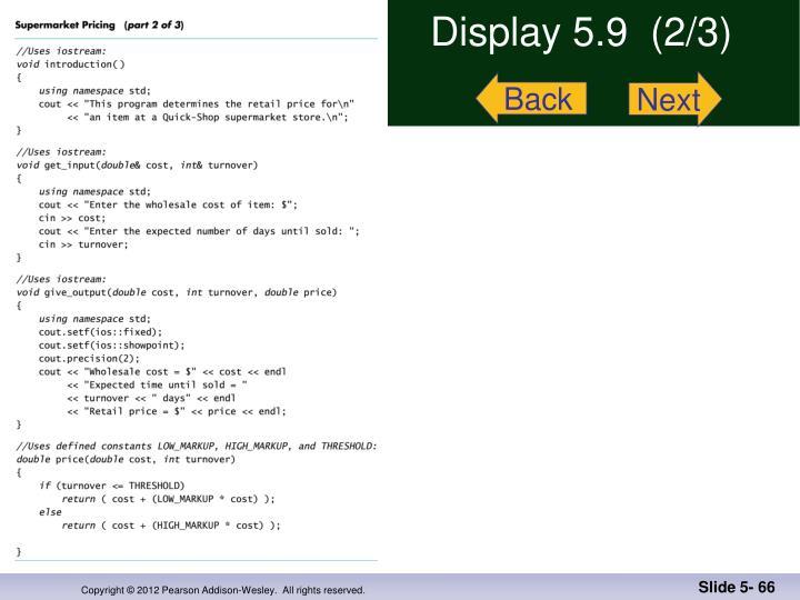 Display 5.9  (2/3)