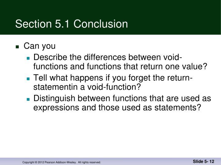 Section 5.1 Conclusion