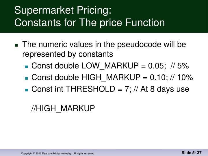 Supermarket Pricing: