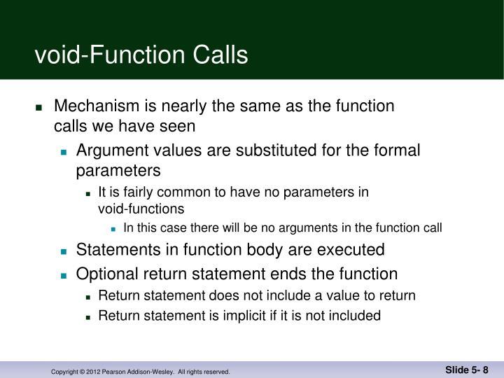 void-Function Calls