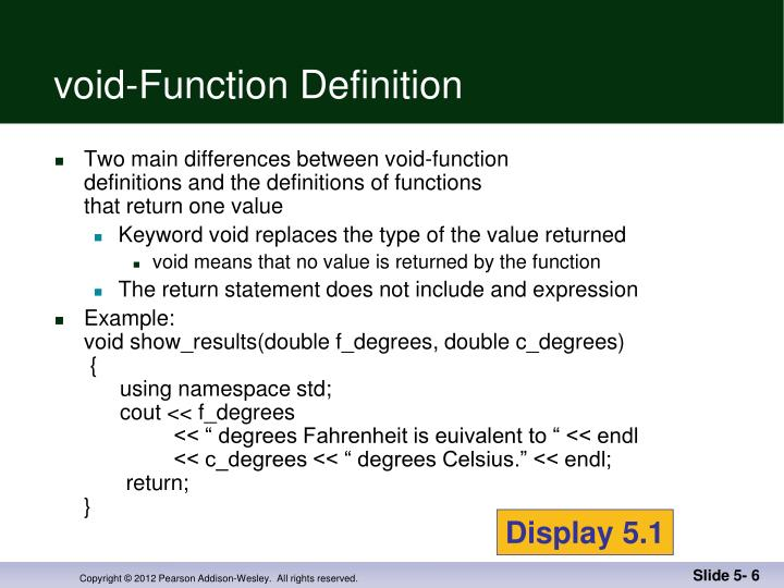 void-Function Definition