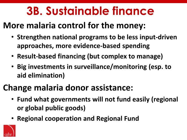 3B. Sustainable finance
