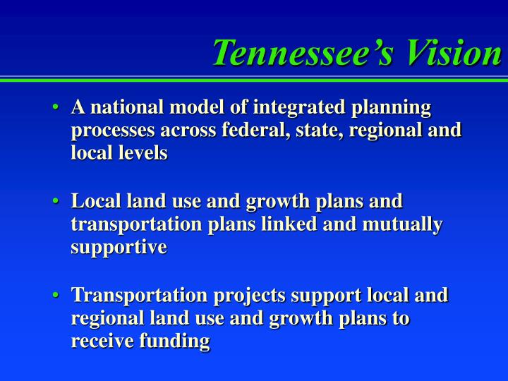Tennessee's Vision