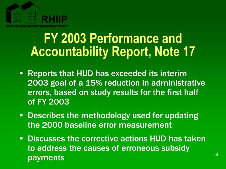FY 2003 Performance and Accountability Report, Note 17
