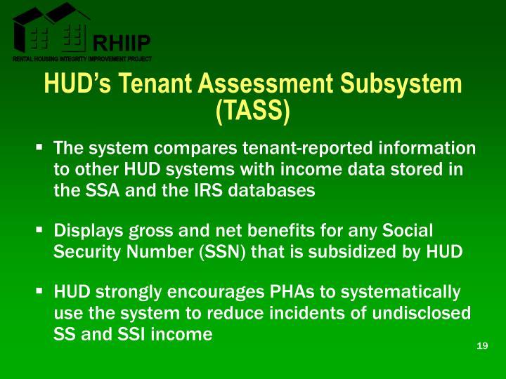 HUD's Tenant Assessment Subsystem (TASS)