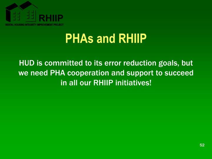 PHAs and RHIIP