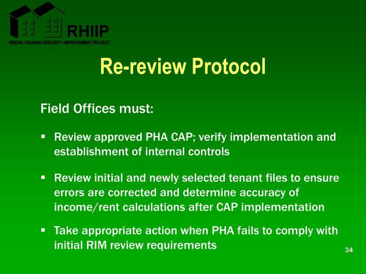 Re-review Protocol