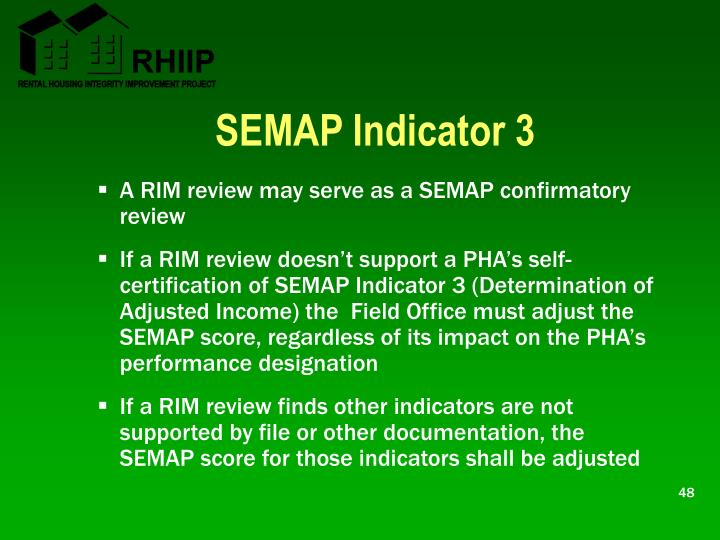 SEMAP Indicator 3