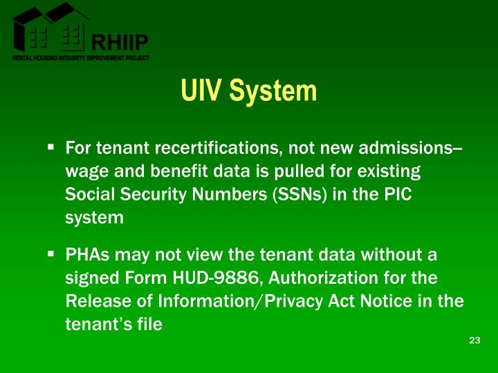 UIV System
