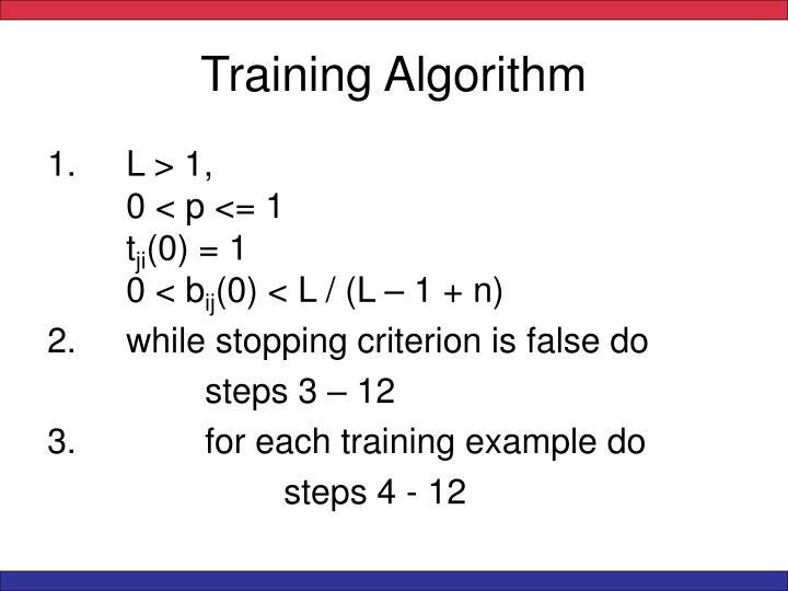 Training Algorithm