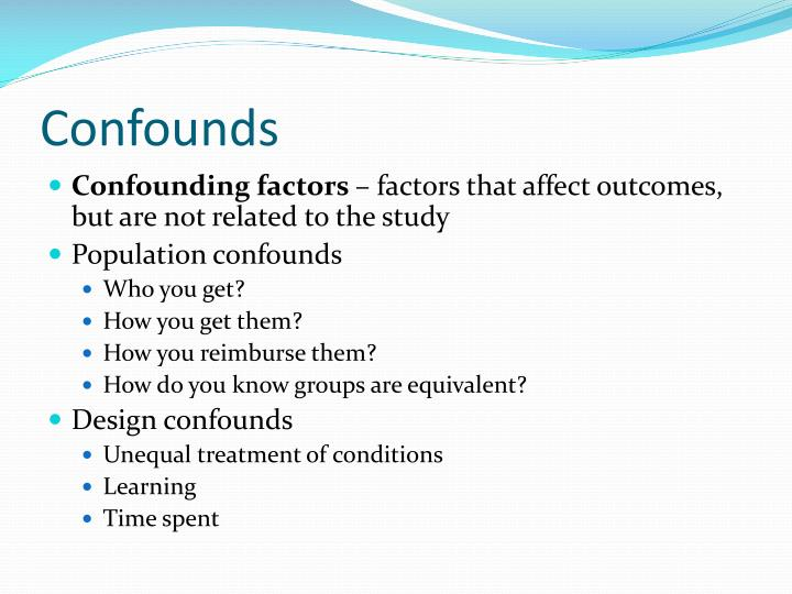 Confounds
