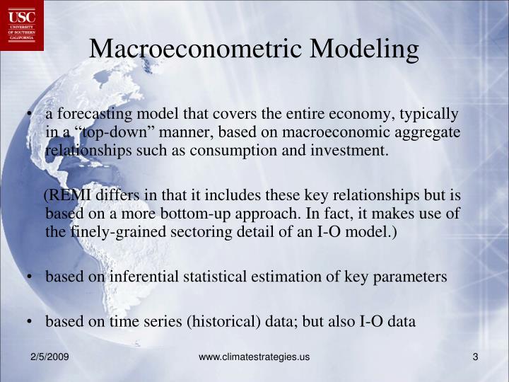 Macroeconometric Modeling