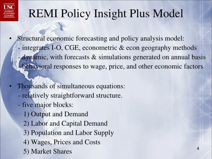 REMI Policy Insight Plus Model