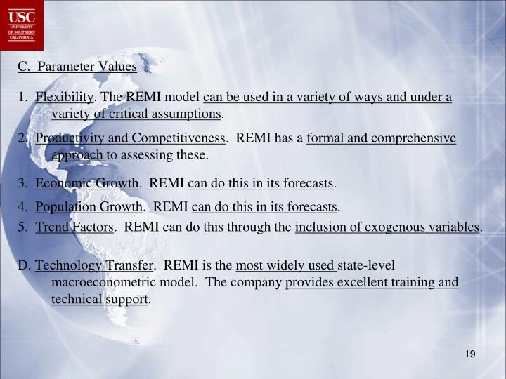 C.  Parameter Values