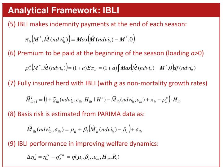 Analytical Framework: IBLI