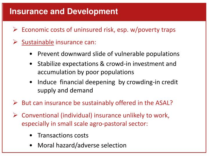 Insurance and Development