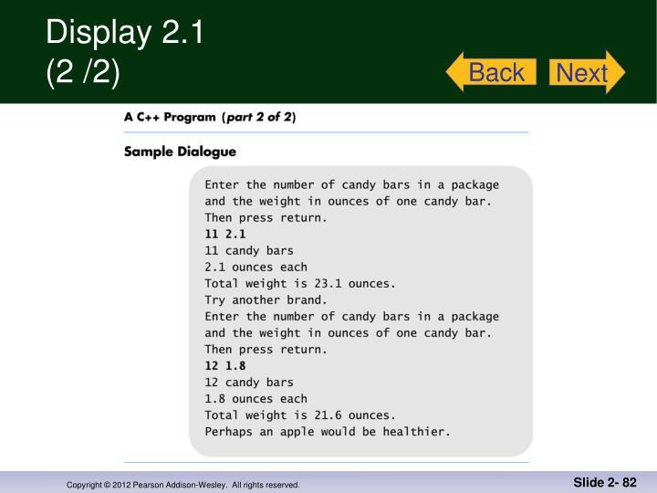 Display 2.1