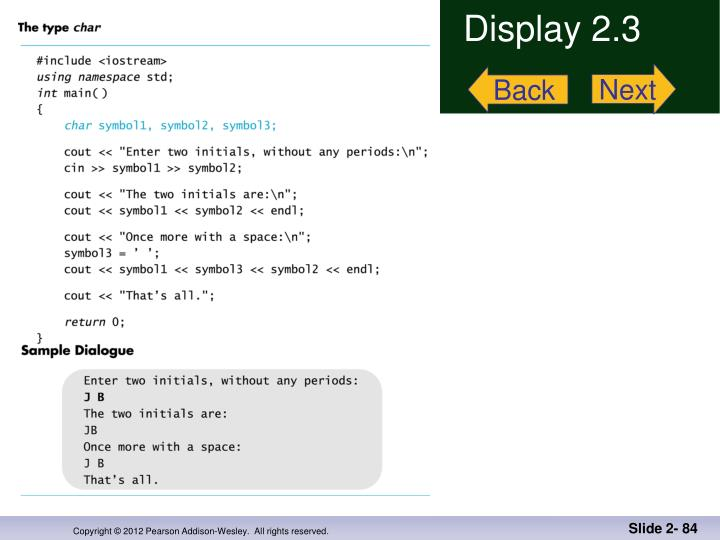 Display 2.3
