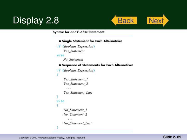 Display 2.8