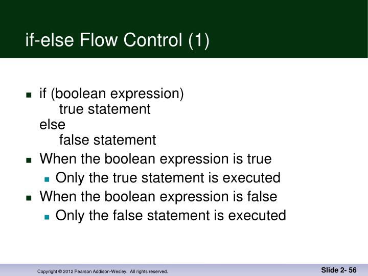 if-else Flow Control (1)