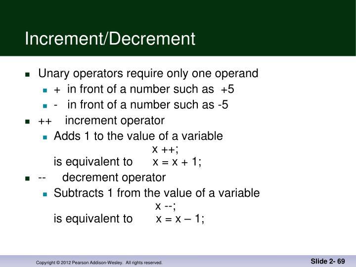 Increment/Decrement