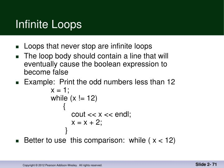 Infinite Loops