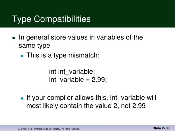 Type Compatibilities
