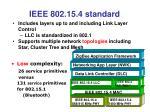 ieee 802 15 4 standard