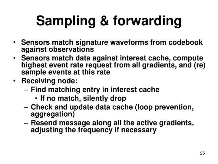 Sampling & forwarding